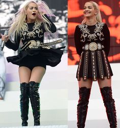 "Rita Ora Performs ""Poison"" in Head-to-Toe Fausto Puglisi"