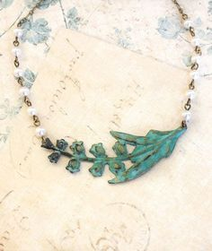 Lily of the Valley Necklace Ivory Cream Pearl