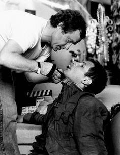"Ridley Scott and Harrison Ford shooting of ""Blade Runner."""