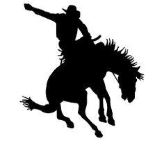 bucking horse silhouette clip art - Google Search