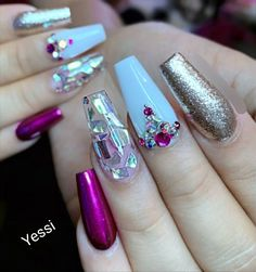 Want some ideas for wedding nail polish designs? This article is a collection of our favorite nail polish designs for your special day. Acrylic Nail Types, Best Acrylic Nails, Neon Nail Designs, Nail Polish Designs, Nails Design, Neon Nails, My Nails, Fall Nails, Spring Nails