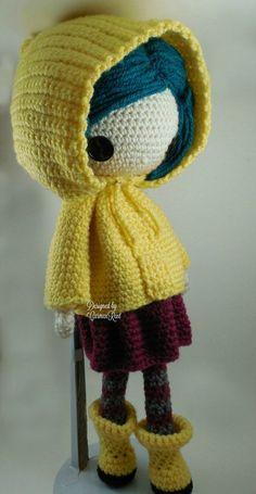 Crochet Doll Coraline Amigurumi Doll Crochet Pattern PDF by CarmenRent Crochet Doll Pattern, Crochet Patterns Amigurumi, Amigurumi Doll, Crochet Dolls, Knitting Patterns, Crochet Kawaii, Cute Crochet, Crochet Crafts, Crochet Beanie