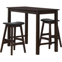 Homelegance Wisdom 3 Piece Counter Height Pub Table Set