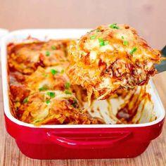 Super einfacher Hühnchen-Enchilada-Auflauf