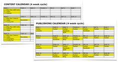 Content & publishing calendar examples. #net101 #socialmedia