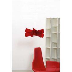 Red Pendant Light delightful architectural shape.