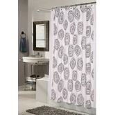 Found it at Wayfair - Lucerne 100% Polyester Fabric Shower Curtain with Flocking