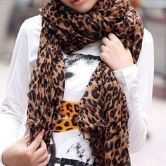 Warming Leopard Scarf for Your Great Christmas Gift for Your Co-Worker under $10  http://www.squidoo.com/the-ideas-of-cheap-christmas-gifts-for-coworkers