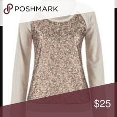 Sequin sweater Beautiful and like new! Looks great on! Only sequined on the front! Soft sweatshirt material. Maurices Sweaters Crew & Scoop Necks