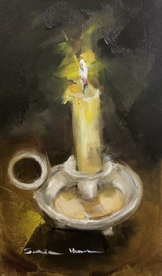 Oil painting Grey Art, Gray, Dragon Oil, Oil Candles, Burning Candle, Oil Paintings, Still Life, Yellow, Objects