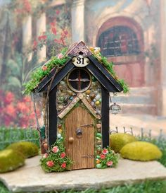 *** The Doors Do Not Open on this particular house***  This Fairy House would be perfect in any Fairy Garden or in with a potted plant. At The Healers Garden we are dedicated to the finest craftsmanship. Each cottage is made using outdoor glues and is finished off with several coats of outdoor urethane. My fairy cottages are made to last outdoors for several years with special care instructions. If you have excess rain or water from sprinklers on them I would recommend that you place a…