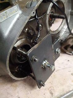 Motorcycle Crankcase Splitter by mt666tm -- Homemade motorcycle crankcase splitter fabricated from steel plate, 4 bolts, and matching nuts. http://www.homemadetools.net/homemade-motorcycle-crankcase-splitter