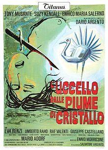 The Bird with the Crystal Plumage (Italian: L'uccello dalle piume di cristallo) is a 1970 Italian giallo film directed by Dario Argento, in ...