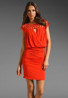 PLENTY BY TRACY REESE Macrame Surplice Dress in Fiesta at Revolve Clothing - Free Shipping!