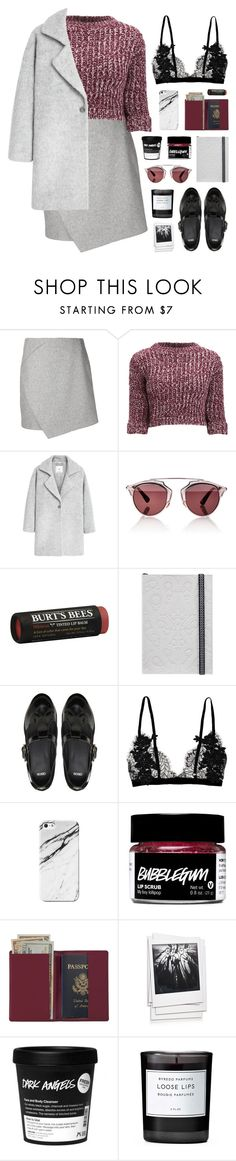 """""""revolution"""" by martosaur ❤ liked on Polyvore featuring mode, Carven, Girls On Film, MANGO, Christian Dior, Burt's Bees, Christian Lacroix, ASOS, Royce Leather en Polaroid"""