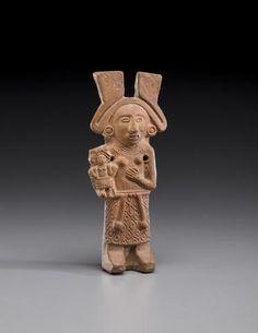 Aztec Figure of Xochiquetzal, ca. A.D. 1300-1521 height 5 3/4in (14.6cm)