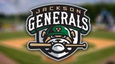 Jackson Generals Primary Logo on Chris Creamer's Sports Logos Page - SportsLogos. A virtual museum of sports logos, uniforms and historical items. Lacrosse, Hockey, Softball, Sports Baseball, Baseball Teams, Milb Teams, Baseball Tickets, 100 Logo, Sports Team Logos
