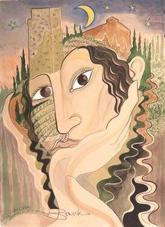 Pauline Bewick Irish Art, Landscape Paintings, Artist, Fictional Characters, Landscape, Fantasy Characters, Landscape Drawings, Amen, Artists