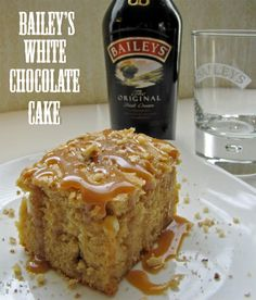 Bailey's White chocolate cake recipe- @CravingCreative