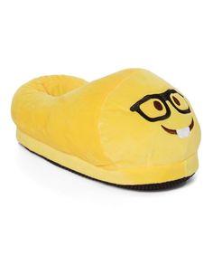 Yellow Nerd Emoji Slipper