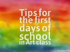 First Day of School for Art Class (Art is Basic) Are you nervous about starting the school year? Or are you excited to get things going? Even though this is my lucky year teaching, I still get anxious to go back. It's a combo of nerves, excitem Back To School Art, High School Art, Art Classroom Management, Class Management, Classe D'art, First Day School, Ecole Art, Art Curriculum, School Art Projects