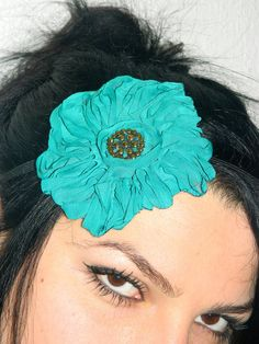 Womens Rose Headband emerald green headband  by emofoFashionDesing, $15.00