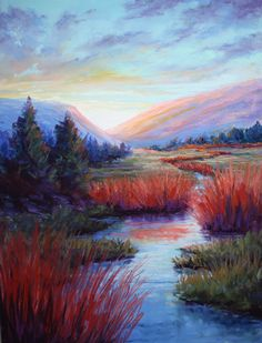 Daylight's Last Breath by Karen Henneck Pastel ~ 20 x 16 Soft Pastel Art, Pastel Colors, Soft Pastels, Paintings I Love, Acrylic Paintings, Arte Lowbrow, Seascape Art, Arts And Crafts, Landscape