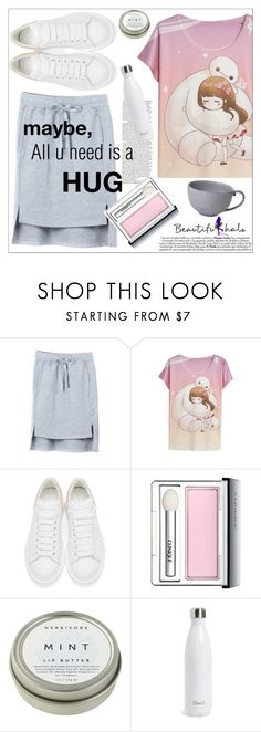"""""""beautiful halo"""" by mycherryblossom on Polyvore featuring Alexander McQueen, Clinique, CB2, S'well and Juliska"""