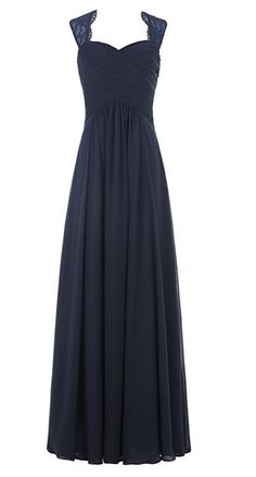 Chiffon Bridesmaid Dress Long Lace Prom Dress