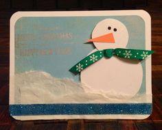 3D Snowman Christmas card