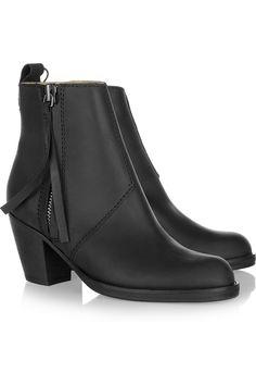 Acne Pistol leather ankle boots NET-A-PORTER.COM