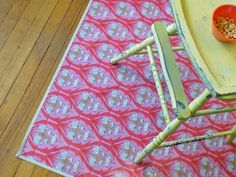 """modernjune etsy store: Design your own Laminated Cotton 56"""" Square Tablecloth/Splat/Play Mat BPA-free, PVC-free, and CPSIA compliant $45"""