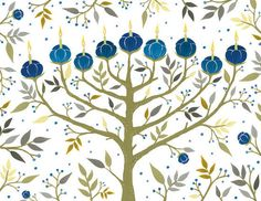 etsy finds chic hanukkah decor and cards - Hanukkah Decorations