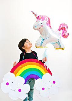 hello, Wonderful - DIY HAPPY CARDBOARD RAINBOW COSTUME FOR KIDS