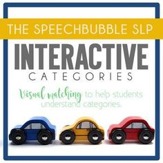 Categories can be TOUGH for some students! Check out this low cost printable activity for your younger elementary students to practice language processing skills.  Visual matching helps students understand how objects are grouped! #lowprep #SLP #therapy #BackToSchool