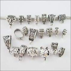 Free Shipping 20Pcs Mixed Tibetan Silver Tone Dangle Charms Beads fit European Bracelets Connectors F175 US $3.99
