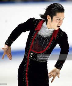 Daisuke Takahashi of Japan competes in the Men's Singles Short Program during day one of the 74th All Japan Figure Skating Championships at the Yoyogi National Gymnasium on December 23, 2005 in Tokyo, Japan.