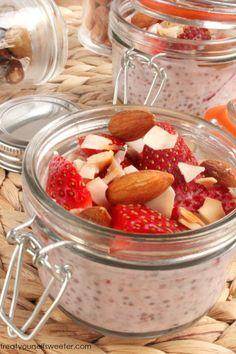 Strawberru Chia Breakfast Pudding
