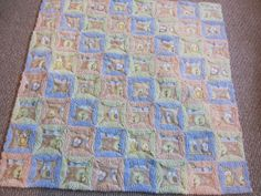 A cute quilt - and I like the way this person thinks - I should follow this tutorial if making a similar quilt.  Love the chenille too. - - - My Patchwork Quilt: A BABY BLANKET FOR HENRY