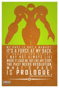 Samus Aran, Metroid Quote