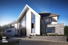Tony Holt Design : Self Build Design for Contemporary Remodel of Existing House Bungalow Renovation, Exterior Makeover, Exterior Remodel, House Extensions, Facade House, House Front, Modern House Design, Contemporary Design, Exterior Design