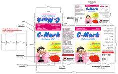 C-MARK (Cefixime) 100mg / 5mL Suspension Unit Carton & Label Design