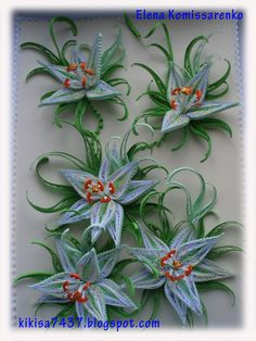 quilled lillies