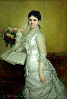 Portrait of Miss Fanny Peabody 1881 by George Healy