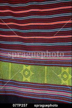 Traditional Timorese Ikat weaving, Aileu, East Timor stock image