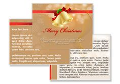 Christmas bell powerpoint template