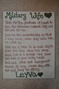 military wife prayer