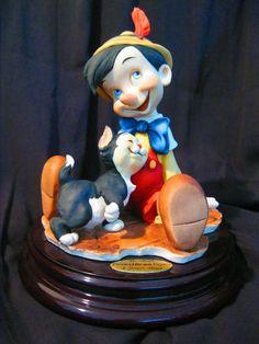 1973 Collectable Giuseppe Armani Figurine Pinocchio & Figaro In Great Condition!