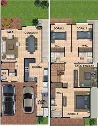 Resultado de imagen de plantas arquitectonicas en terreno 6 x 16