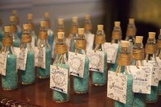 Bath Salt party favors at a Baby Shower #babyshower #party favors